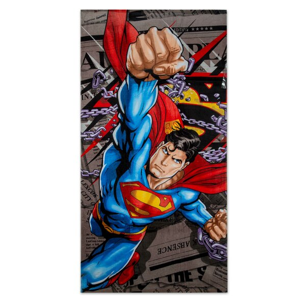 Superman Daily News 100% Cotton Beach Towel by Crover
